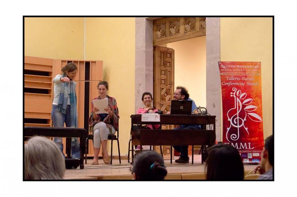 EMML.Conference au Conservatoire de Morelia-México.