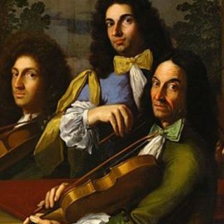 """I musicisti del principe Ferdinando de'Medici"", détail. A-D Gabbiani, 1685ca.."